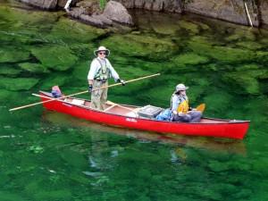 Canoe trip, Bonaventure River, Quebec, Canada
