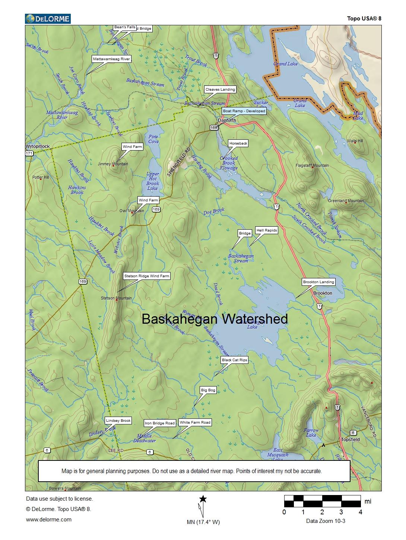 Grand Lake Stream Maine Map.Baskahegan Stream Canoe Trip Near East Grand Lake Maine