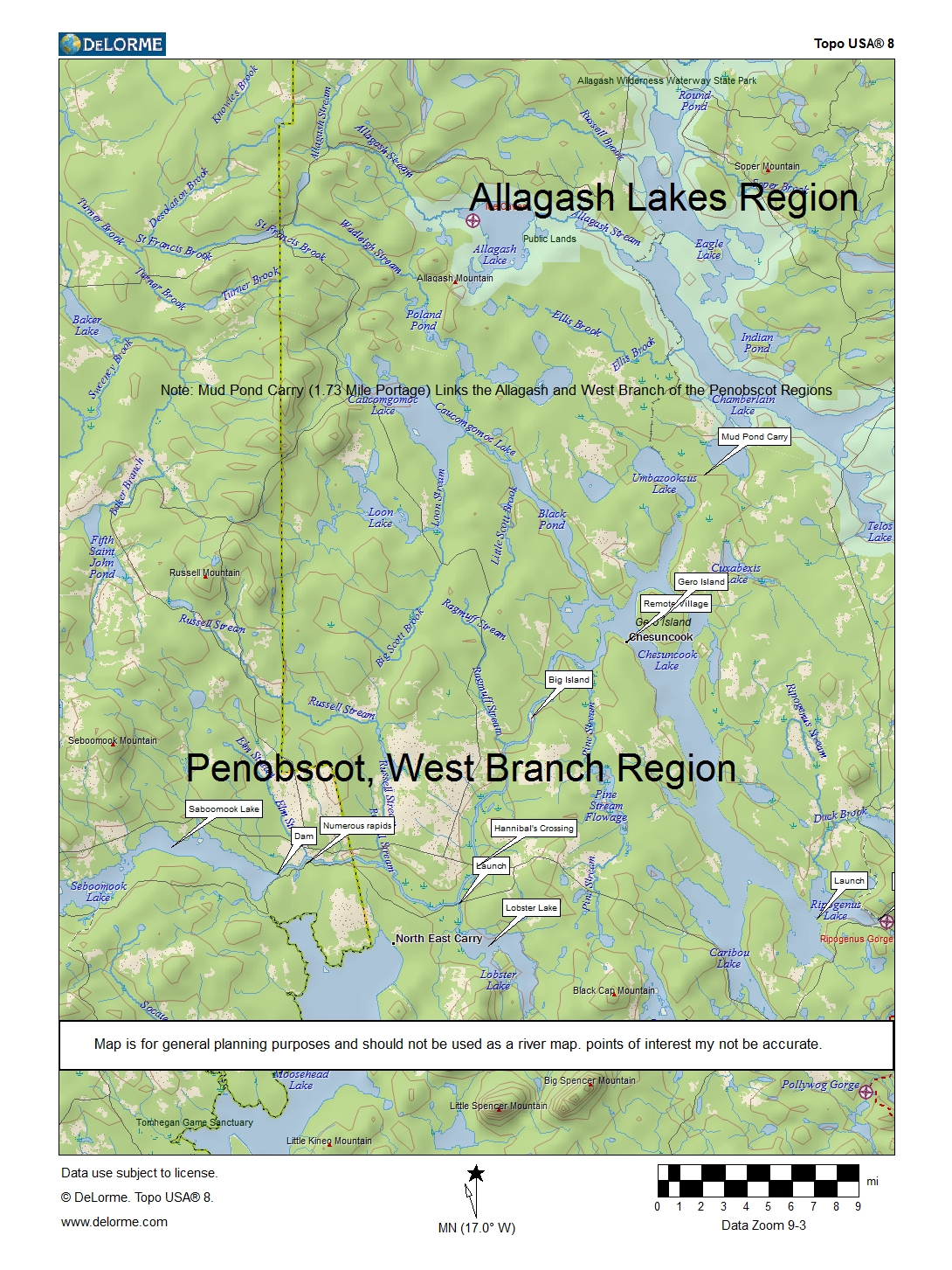 West Branch Penobscot River, Leisurely 3-5 day Canoe Trip while Vacationing in Maine