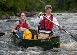 Maine vacation ideas, whitewater canoeing, East Branch Penobscot River, Kathahdin Woods and Waters, Family adventure vacation, weekend getaways
